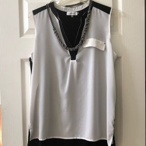 Calvin Klein Sleeveless Sheer Top